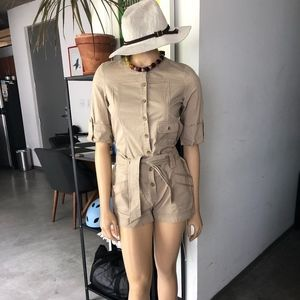 Pants - * SAFARI COLLECTION * VINTAGE KHAKI ROMPER NWT